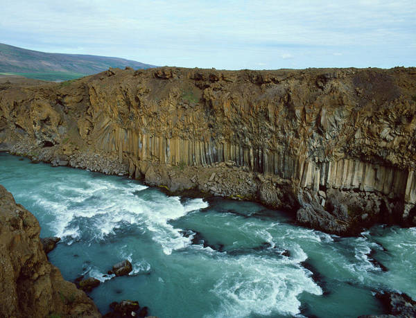 Basalt Columns Photograph - Entablature & Colonnade Lava Formations by Simon Fraser/science Photo Library