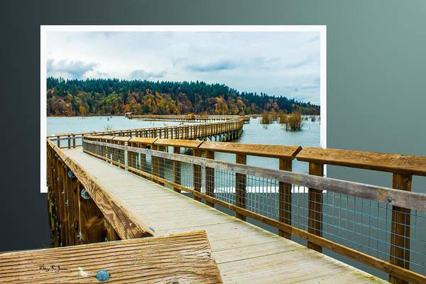 Photograph - Landscape - Boardwalk - Enter Here by Barry Jones