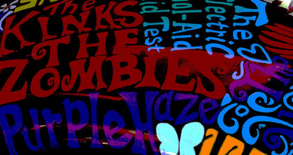 Purple Haze Digital Art - Enter The Bands by April Wietrecki Green