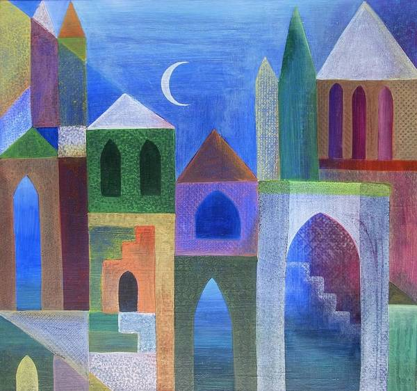 Wall Art - Painting - Enter The Town Quietly At Night by Jennifer Baird