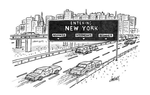 Auto Drawing - Entering New York: Beginner by Tom Cheney