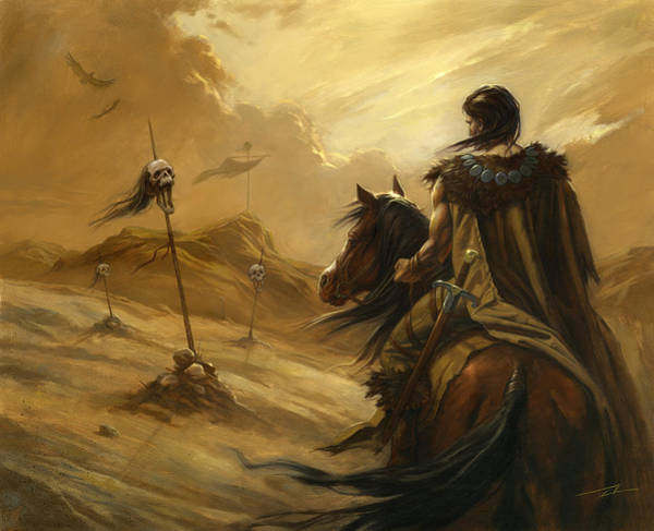 World Of Warcraft Wall Art - Painting - Entering The Deadlands by Alan Lathwell