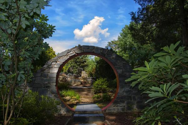 Entering The Garden Gate Art Print