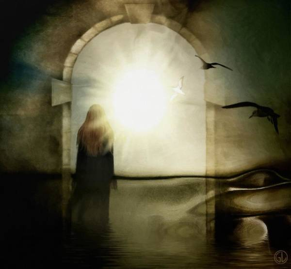 Portals Wall Art - Digital Art - Entering The Gate by Gun Legler