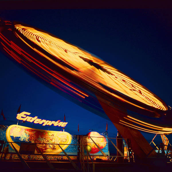 Carnival Rides Wall Art - Photograph - Enterprise by Don Spenner