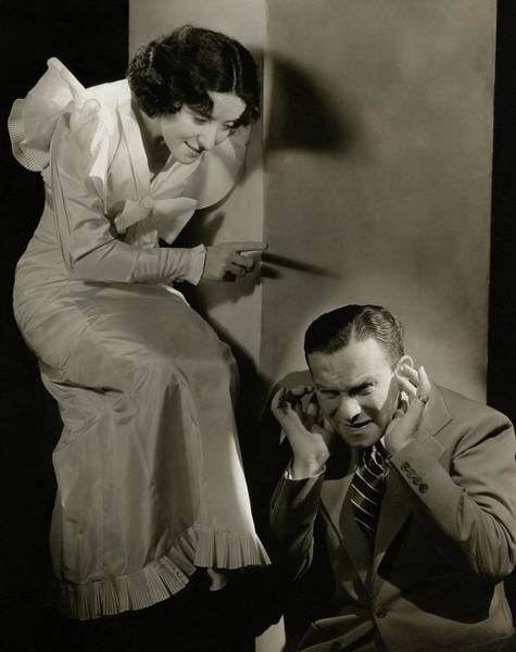 Gesture Photograph - Entertainers George Burns And Grace Allen by Lusha Nelson