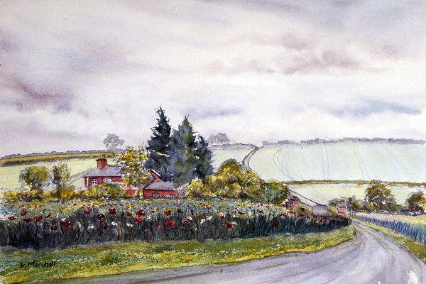Painting - Enthorpe Old Station by Glenn Marshall