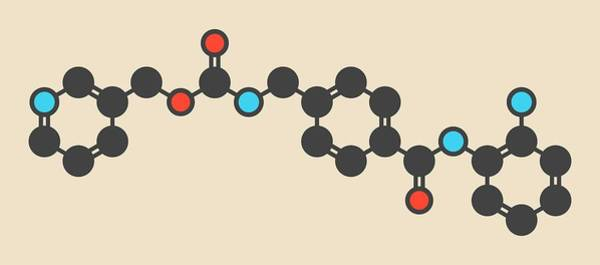 Molecular Wall Art - Photograph - Entinostat Cancer Drug Molecule by Molekuul/science Photo Library