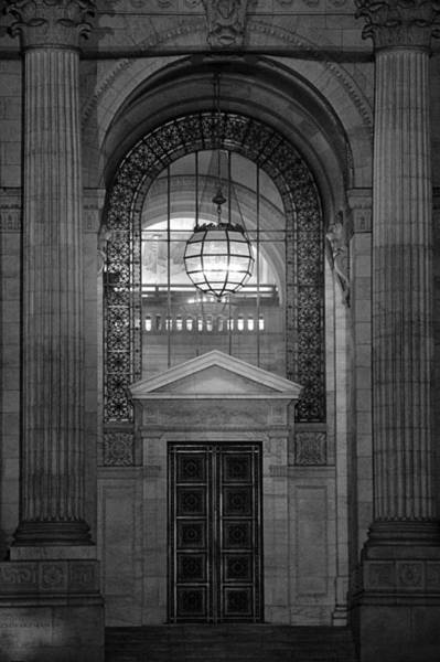 Door To Door Photograph - Entrance In Black And White by Dan Sproul