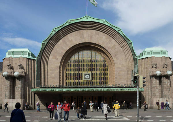 Finnish Photograph - Entrance Of Helsinki Central Railway by Panoramic Images