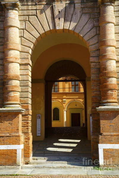 Pio Photograph - Entrance Of Palazzo Dei Pio Carpi Italy by Nicola Fiscarelli
