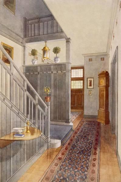 Bannister Wall Art - Drawing - Entrance Passage by Richard Goulburn Lovell