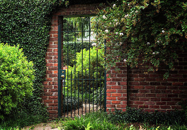 Lock Gates Photograph - Entrance To A Walled Garden by Mary Smyth