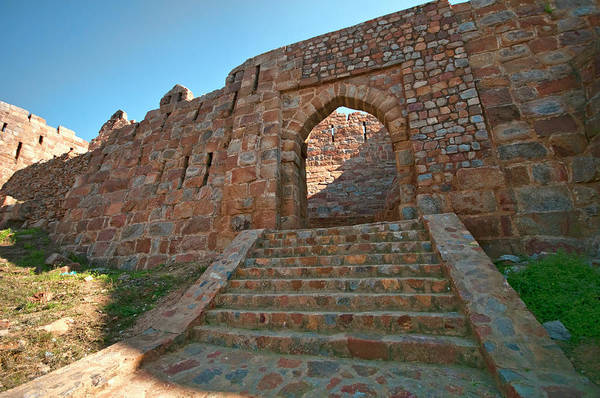 Physical Features Wall Art - Photograph - Entrance To Adilabad Fort, Tughlakabad by Mukul Banerjee Photography