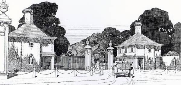 Garden Drawing - Entrance To Brooklandwood by Thomas Hayton Mawson