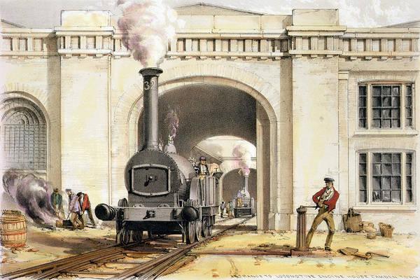 Entrance To Locomotive Engine House Art Print