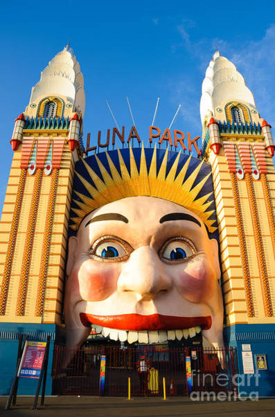 Photograph - Entrance To Luna Park - Sydney - Australia by David Hill