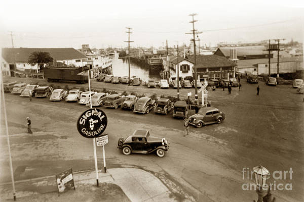 Photograph - Entrance To Monterey Fishermens Wharf And Booth Cannery Circa 1935 by California Views Archives Mr Pat Hathaway Archives
