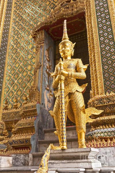 Demon Photograph - Entrance To Phra Mondop Bangkok by Colin and Linda McKie