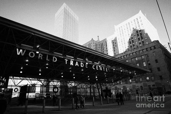 September 11 Attacks Photograph - Entrance To The Rebuilt Path Train Station Ground Zero World Trade Center Site New York City by Joe Fox