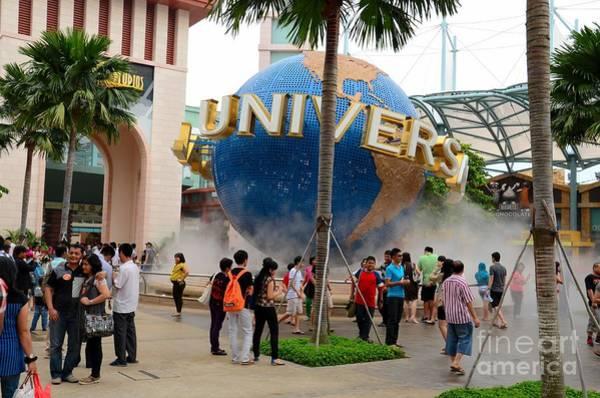 Photograph - Entrance To Universal Studios Theme Park Sentosa Island Singapore by Imran Ahmed