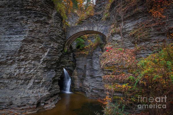Bliss Wall Art - Photograph - Entrance To Watkins Glen Landscape by Michael Ver Sprill