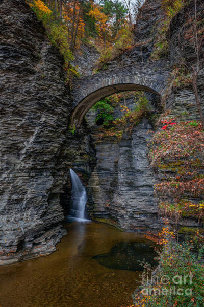 Cavern Photograph - Entrance To Watkins Glen  by Michael Ver Sprill