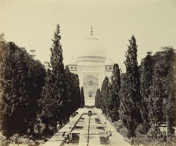 Wall Art - Drawing - Entrance View Of The Taj Felice Beato, English by Litz Collection