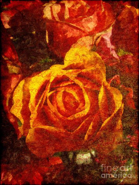 Rose Flower Digital Art - Entrer Dans Mon Coeur by Lianne Schneider