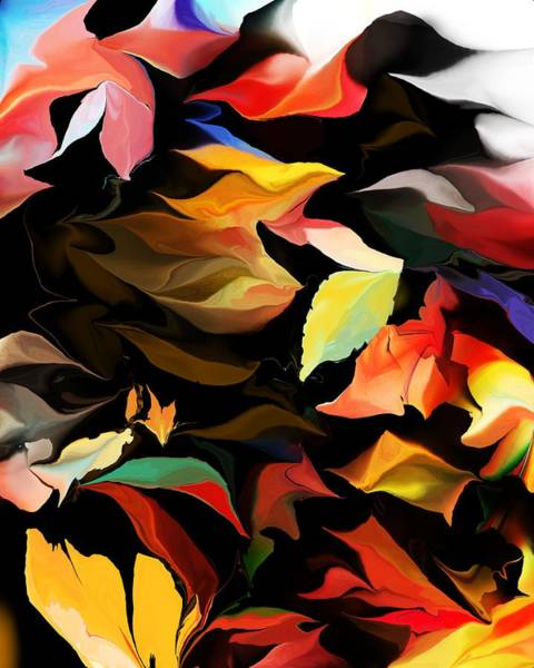 Wall Art - Digital Art - Entropic Dance Of The Salamander First Snow.  by David Lane