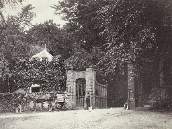 Entry Drawing - Entry Gate Of A House In Fort William, Francis Edmond Currey by Artokoloro