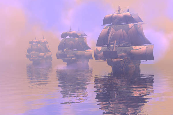 Bryce Digital Art - Enveloped By Fog by Claude McCoy
