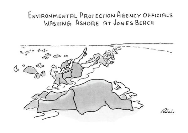 Officials Drawing - Environmental Prodection Agency Officials Washing by J.P. Rini