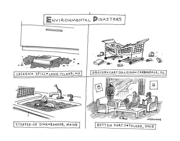 Chores Drawing - Envrionmental Disasters by Mick Stevens