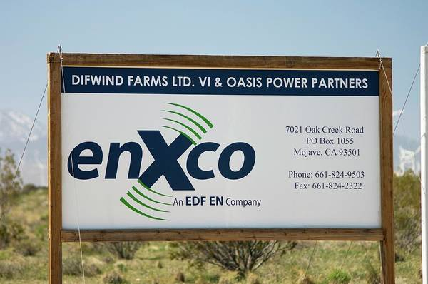 Controversial Wall Art - Photograph - Enxco Wind Farm Sign by David Nunuk/science Photo Library