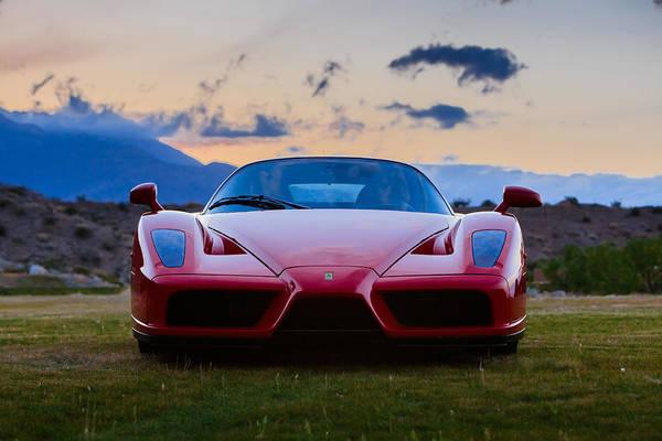 Photograph - Enzo Ferrari Straight On by Scott Campbell