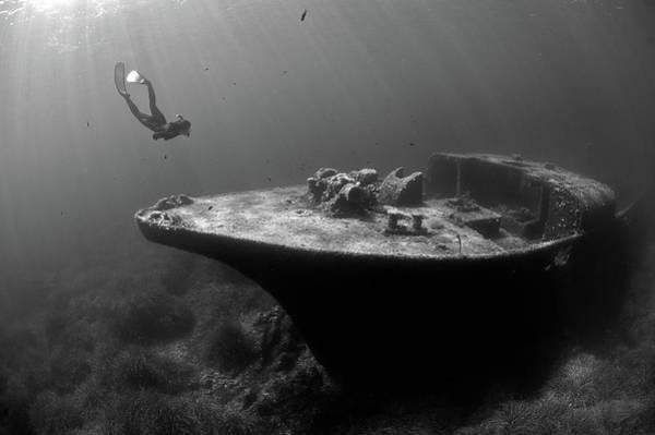 Ship Wreck Photograph - Epave De La Picorella - Picorella's Wreck by Eric Volto