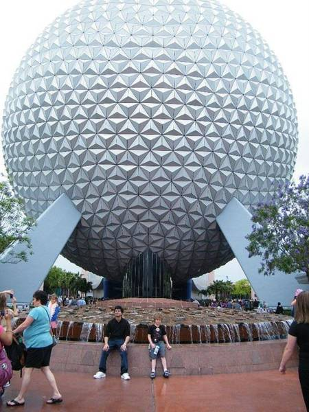 Photograph - Epcot And People by Ronda Douglas