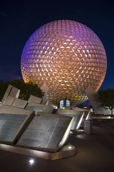 Photograph - Epcot Spaceship Earth by Adam Romanowicz