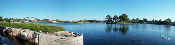 Wall Art - Photograph - Epcot World Showcase Lagoon Panorama 02 Walt Disney World by Thomas Woolworth