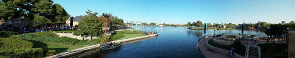 Wall Art - Photograph - Epcot World Showcase Lagoon Panorama 03 Walt Disney World by Thomas Woolworth