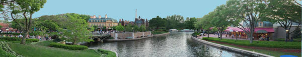Wall Art - Photograph - Epcot World Showcase Lagoon Panorama 04 Walt Disney World by Thomas Woolworth