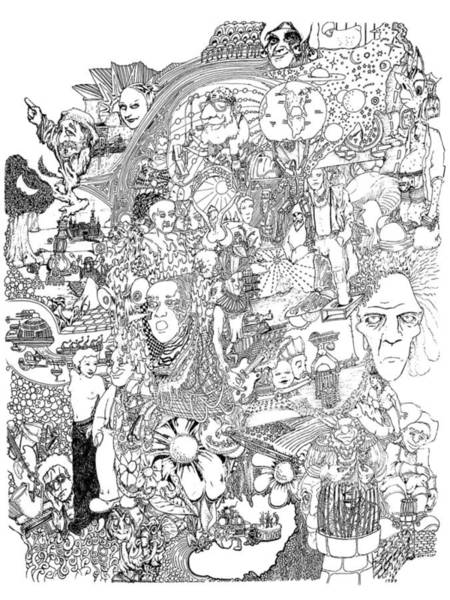 Sax Drawing - Epic 2011 by Steve  Hester