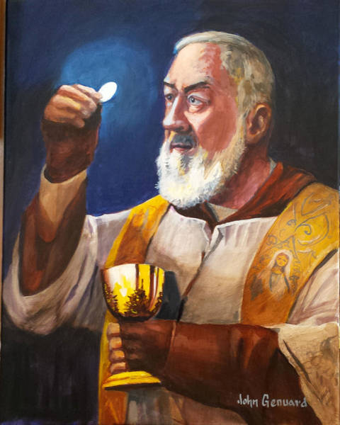 Padre Pio Wall Art - Painting - Epicenter by John Genuard