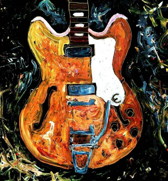 Painting - Epiphone by Neal Barbosa
