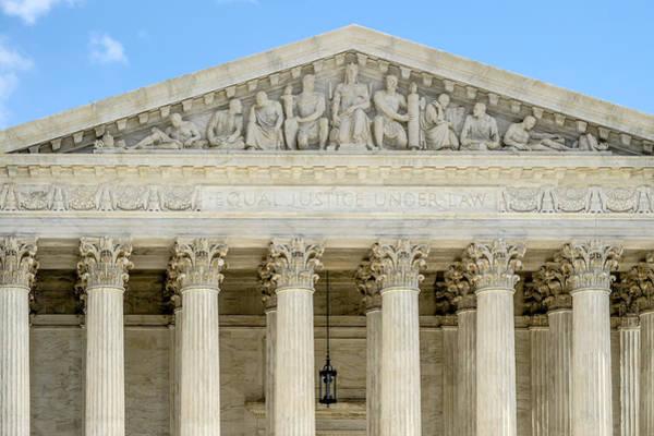 Photograph - Equal Justice Under Law II by Susan Candelario