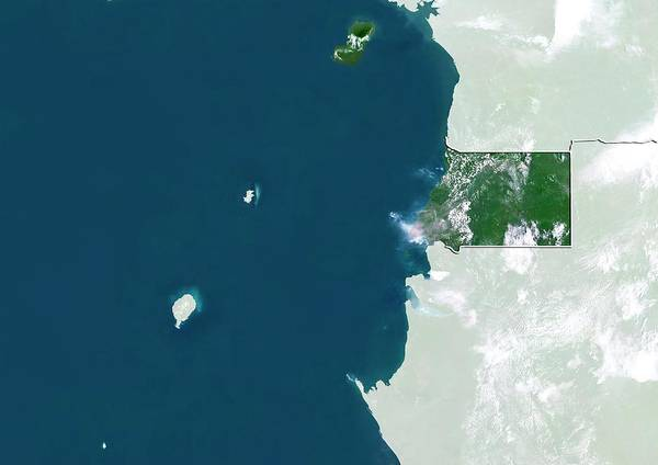 Landsat 7 Wall Art - Photograph - Equatorial Guinea by Planetobserver/science Photo Library