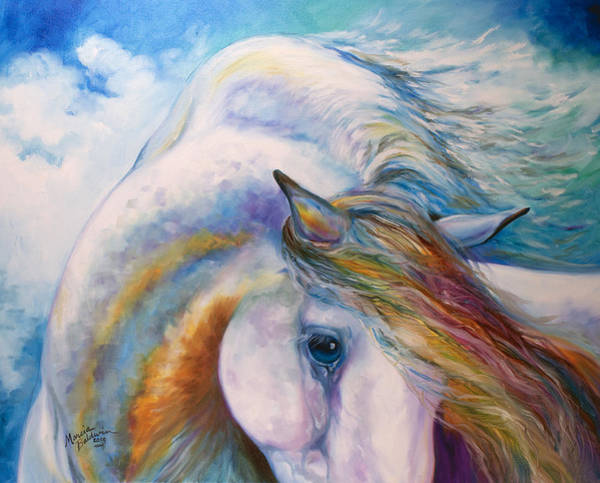 Wall Art - Painting - Equine Angel by Marcia Baldwin