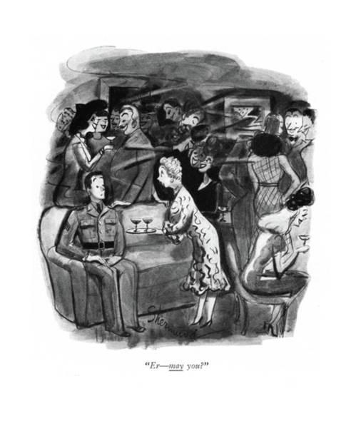 Alcoholism Drawing - Er - May You? by Barbara Shermund