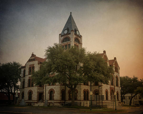 Photograph - Erath County Courthouse by Joan Carroll